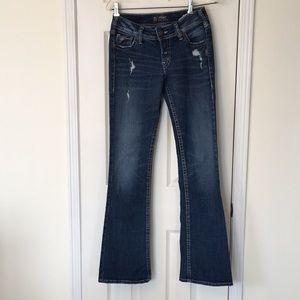 Like New Silver Suki Jeans